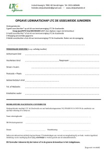 2020 LTC junioren Opgave lidmaadschap